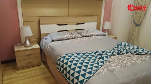 现代简约板式床