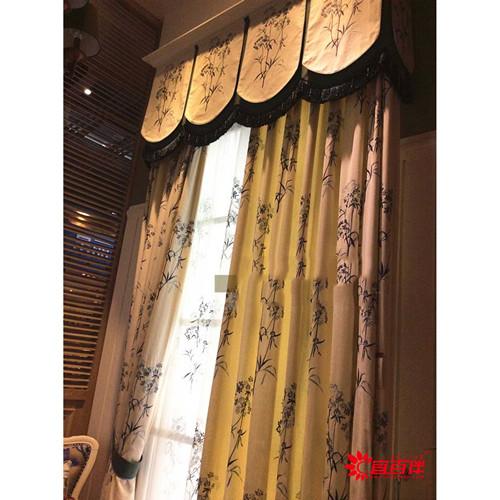 新中式家具搭配窗帘