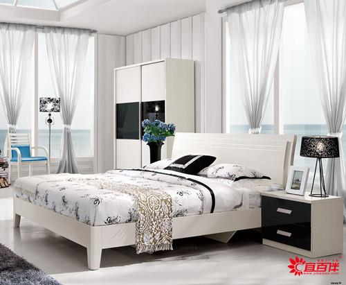 现代简约白色床