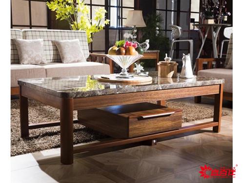 柚木色新中式客厅家具