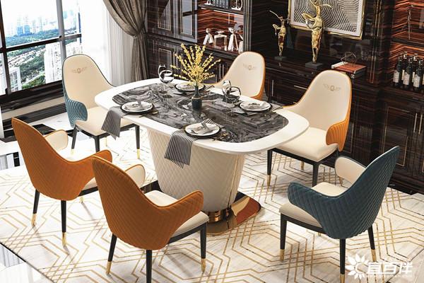 宜百伴轻奢餐厅家具